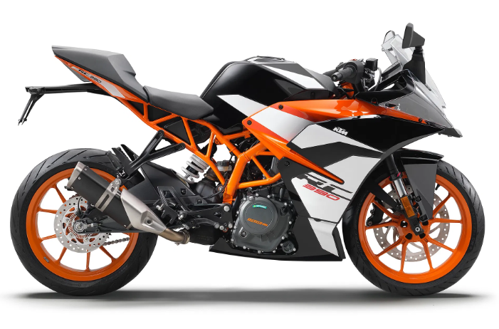 KTM RC 390 WHITE CHASSIS